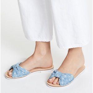 kate spade Shoes - Kate spade denim slides